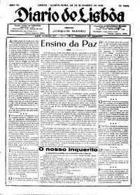 Quinta-feira, 25 de Setembro de 1930